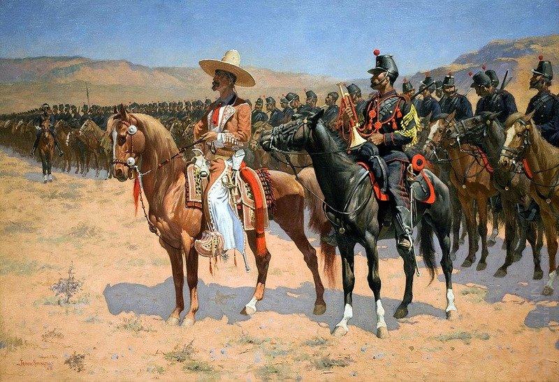 Ф.Ремингтон  Генерал во главе кавалерийского полка, 1889 г..jpg