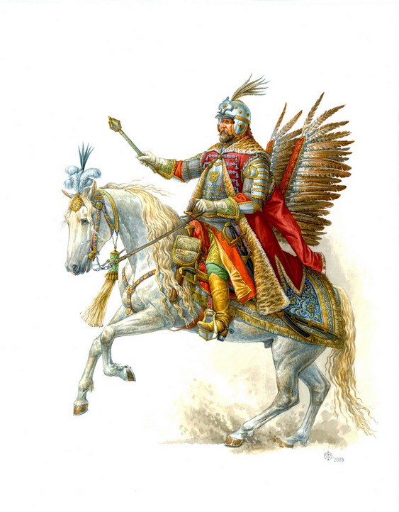 Полковник гусарского строя Христофор Рыльский на параде 15 мая 1654г. Рис.Фёдорова.jpg